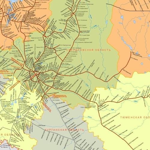 Схема пермского отделения свердловской железной дороги